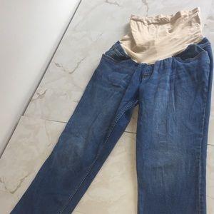 Indigo Blue XL Maternity Jeans w/ Belly Pouch